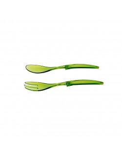 2'Li Yeşil Çatal Kaşık Seti