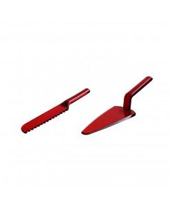 Kırmızı Spatula Bıçak Seti