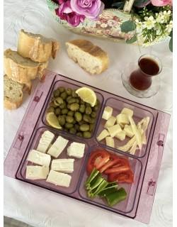 Soft Pembe 4'Lü Saray Kahvaltılık