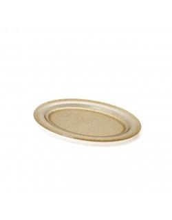 EWs Akrilik Gold Simli Renk Küçük Kayık Tabak