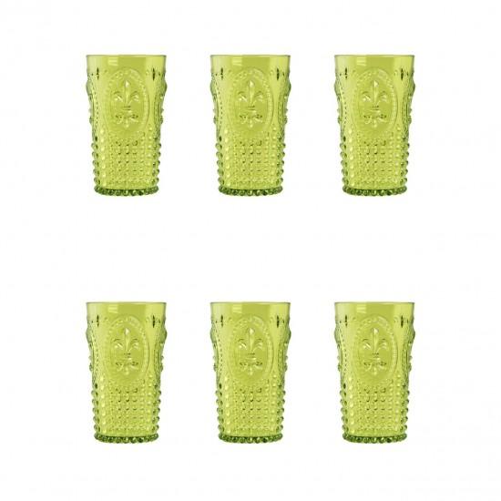 EWs Akrilik Yeşil Uzun Bardak 3 Bardak + 3 Bardak