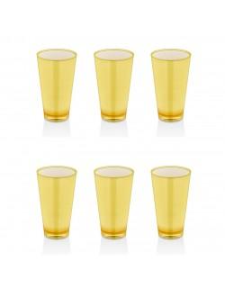 EWs Akrilik Sarı  Meşrubat Bardak 3 Bardak + 3 Bardak