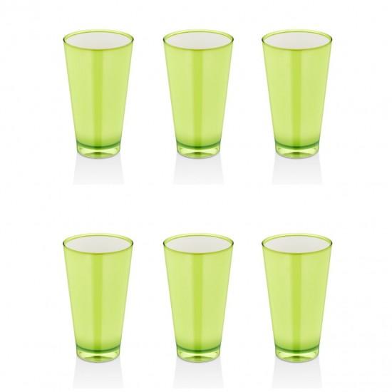 EWs Akrilik Yeşil  Meşrubat Bardak 3 Bardak + 3 Bardak