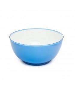 2 Renk Mavi-Beyaz Yuvarlak Salata Kasesi