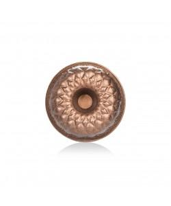 Bronz Renk 26 CM Prizma Kek Kalıbı