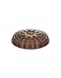 Ayçiçeği Desenli Bronz 26 CM Kek Kalıbı