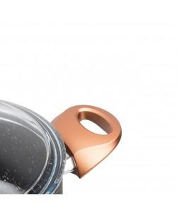 Mat Siyah Renk 26 Cm Granit Derin Tencere