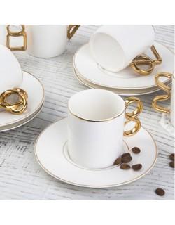 6'Lı Porselen Kahve Fincan Takımı