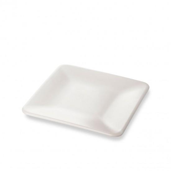 EWs Kare Pasta Tabağı  Mat Beyaz