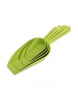 EWs 4'Lü Yeşil Plastik Ölçü Kaşığı