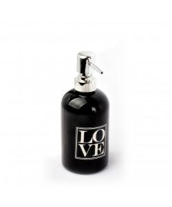 EWs Yaldızlı Siyah Sıvı Sabunluk