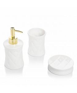 EWs Leo 3 Parça Beyaz Banyo Seti